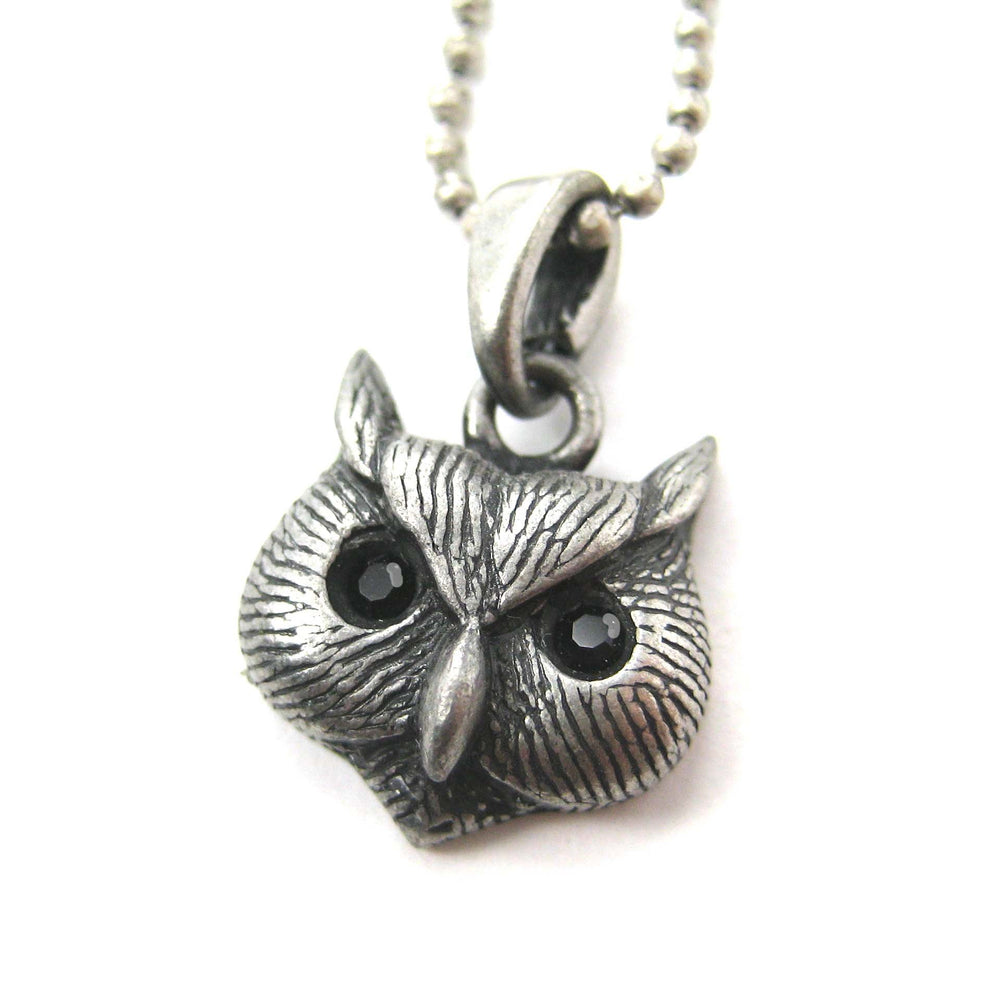 Owl Bird Animal Charm Necklace in Silver | Animal Jewelry | DOTOLY