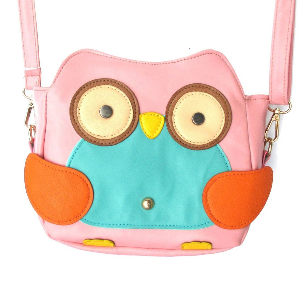Owl Shaped Animal Bird Themed Cross body Shoulder Bag for Women in Light Pink | DOTOLY