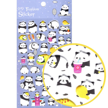 Panda Bear and Tacos Animal Themed Puffy Stickers for Scrapbooking and Decorating | DOTOLY