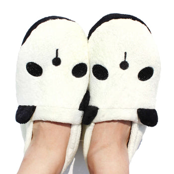 Panda Bear Animal Shaped Slip-On At Home Slippers Shoes for Women | DOTOLY