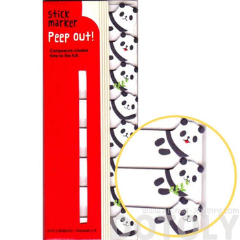 Panda Bear Shaped Memo Post-it Peek Out Sticky Tabs | Animal Themed Stationery | DOTOLY