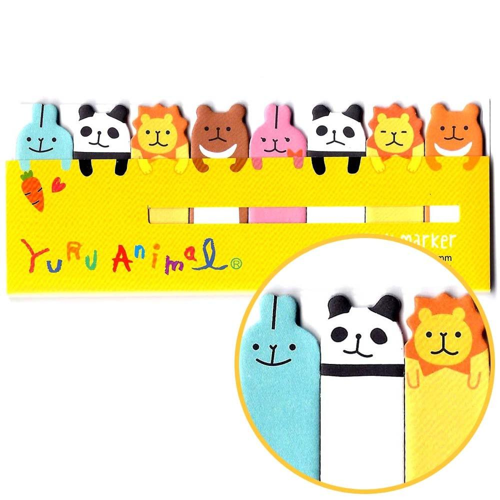 Panda Bunny Lion Animal Themed Memo Pad Post-it Index Tab Sticky Bookmarks | DOTOLY