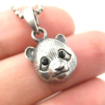 Panda Teddy Bear Animal Charm Necklace in Silver | Animal Jewelry | DOTOLY