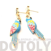 Parrot Bird Colorful Animal Dangle Earrings | Animal Jewelry | DOTOLY
