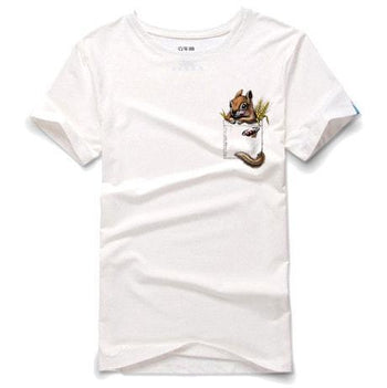 Peek a Boo Squirrel in Your Pocket Graphic Tee T-Shirt in White | DOTOLY | DOTOLY