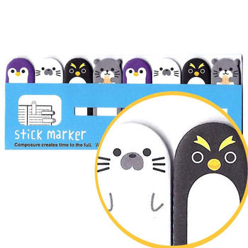 Penguin Shaped Animal Themed Memo Pad Post-it Index Tab Sticky Bookmarks | DOTOLY