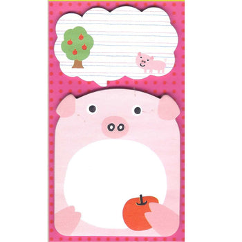 Pig Piglet and Speech Bubble Shaped Animal Themed Memo Sticky Post-it Note Pad | DOTOLY
