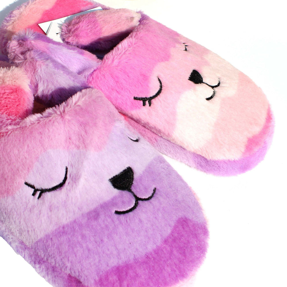 Pink and Purple Gradient Bunny Rabbit Shaped Slip-On Slippers for Women | DOTOLY