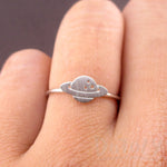 Planet Saturn Shaped Galaxy Universe Space Themed Adjustable Ring | DOTOLY