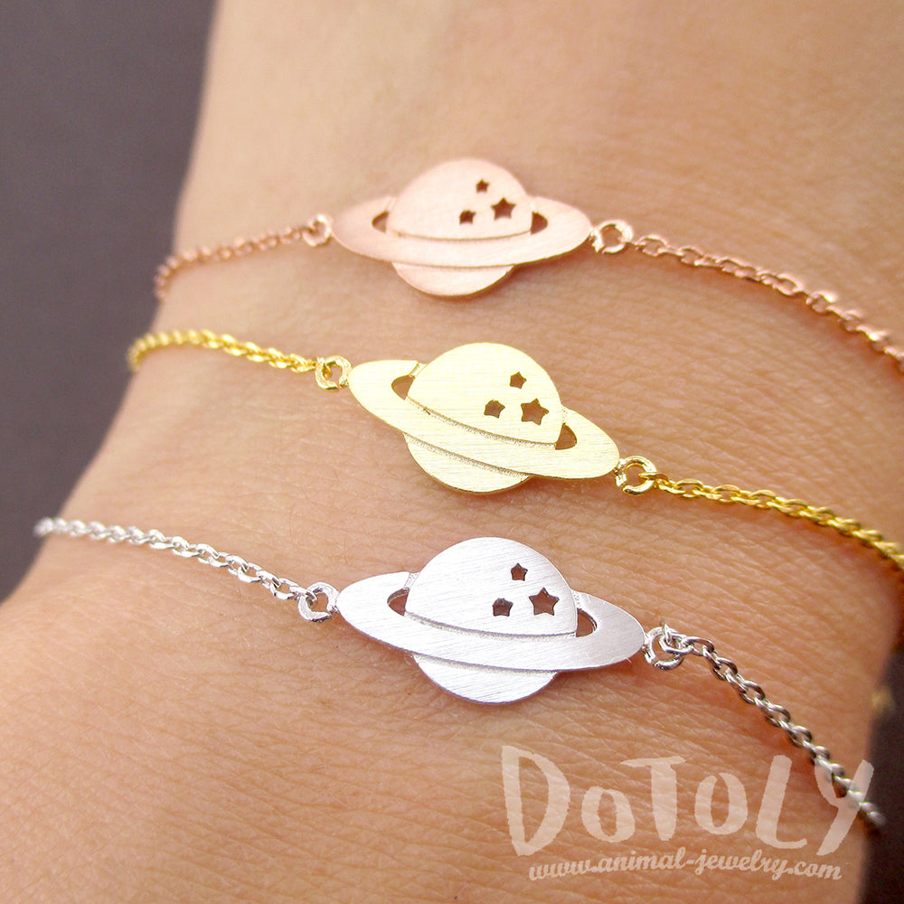DOTOLY Saturn Planet Celestial Cosmo Universe Charm Bracelet