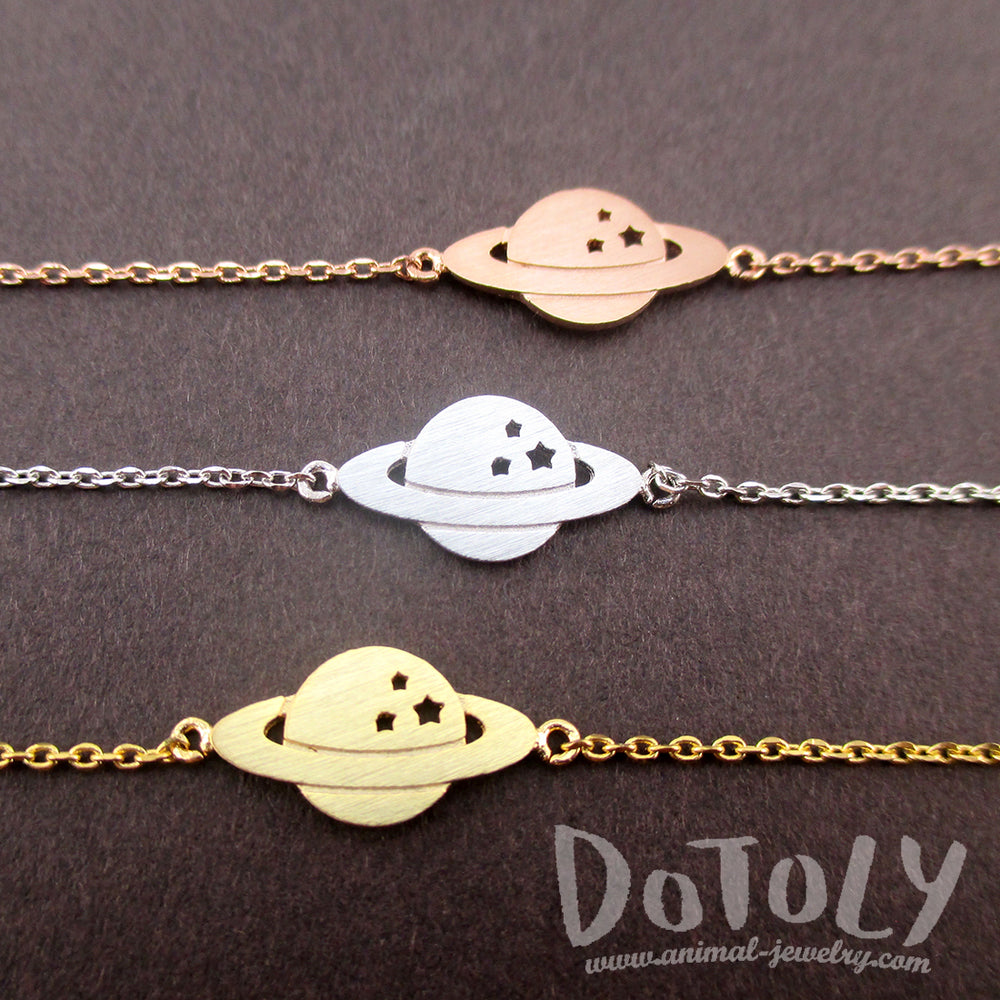 Saturn Shaped Charm Bracelets. Space Travel Themed NASA Bracelet