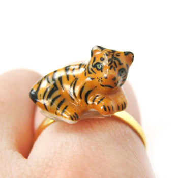 porcelain-ceramic-baby-tiger-animal-shaped-adjustable-ring-handmade