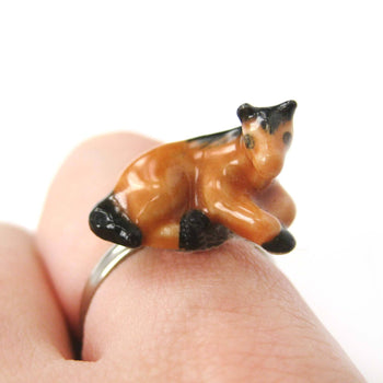 porcelain-ceramic-horse-shaped-animal-adjustable-ring-handmade
