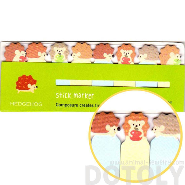 Porcupine Hedgehog Shaped Memo Pad Post-it Index Tabs
