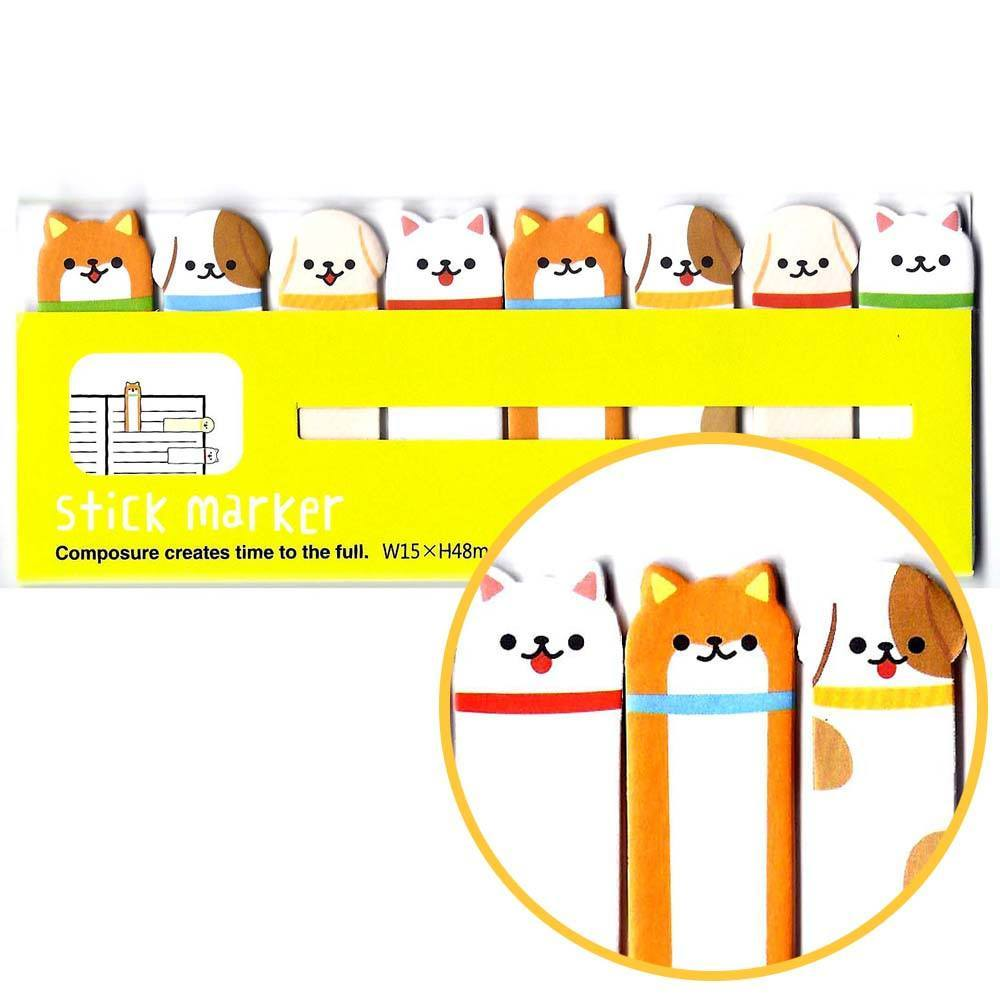 Puppy Dog Animal Themed Memo Pad Post-it Index Tab Sticky Bookmarks | DOTOLY