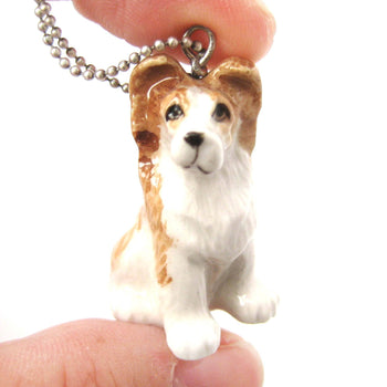Puppy Dog Porcelain Ceramic Animal Pendant Necklace | Handmade | DOTOLY