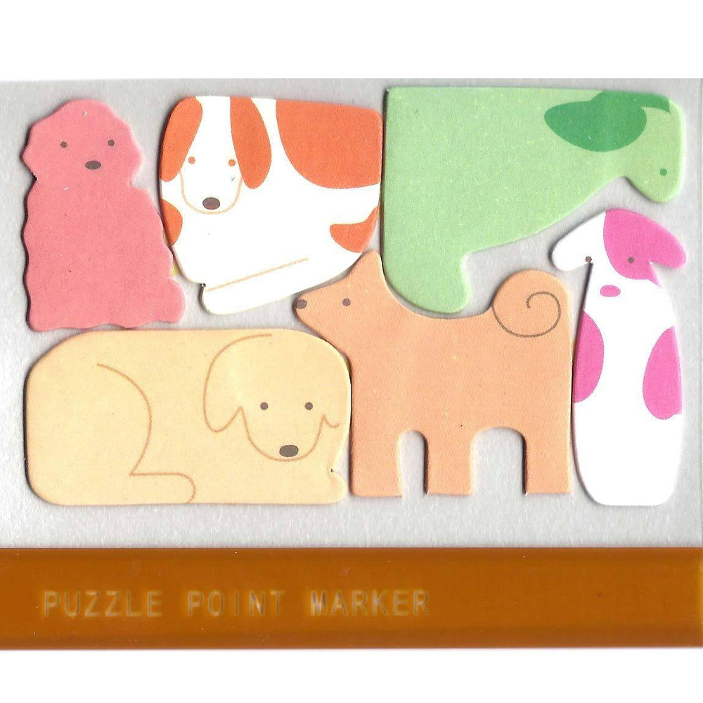 Puppy Dog Shaped Animal Themed Memo Pad Post-it Index Tab Sticky Notes | DOTOLY