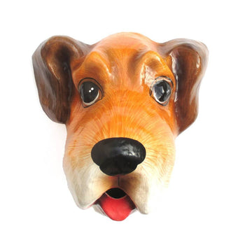 Puppy Dog Head Shaped Taxidermy Wall Trophy Tissue Paper Roll Holder | DOTOLY