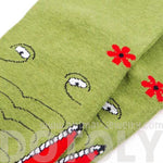 Quriky Crocodile Alligator Animal Shaped Long Cotton Socks for Couples | DOTOLY