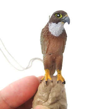 Realistic Eagle Hawk Bird Animal Plastic Pendant Necklace | Animal Jewelry | DOTOLY