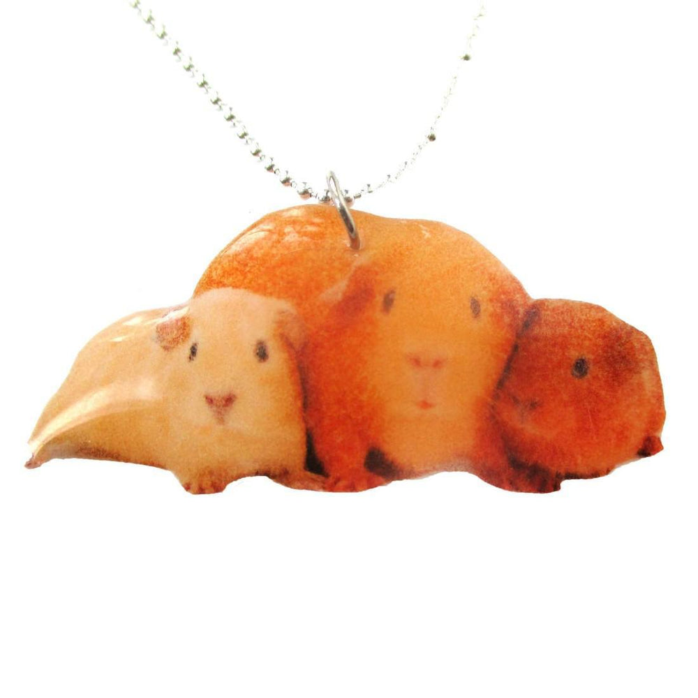 Realistic Guinea Pigs Hamsters Animal Shaped Pendant Necklace | Handmade | DOTOLY
