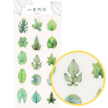 Realistic Leaf Shaped Nature Themed Stickers for Scrapbooking and Decorating | DOTOLY