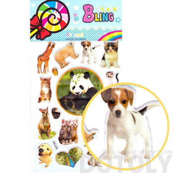 Realistic Mixed Animal Panda Cat Giraffe Dog Photo Stickers for Scrapbooking and Decorating | DOTOLY