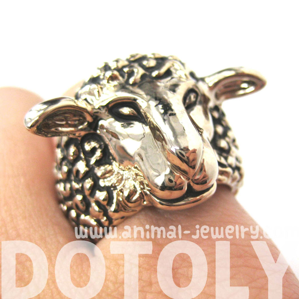 realistic-sheep-lamb-animal-adjustable-ring-in-gold-animal-jewelry