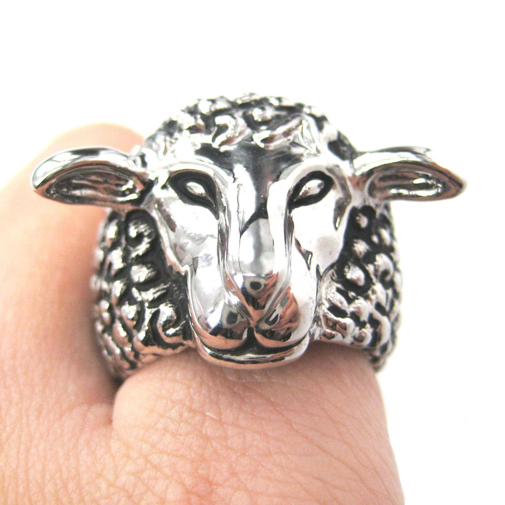 realistic-sheep-lamb-animal-adjustable-ring-in-silver-animal-jewelry
