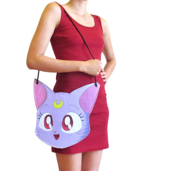 Sailor Moon Diana Kitty Cat Face Shaped Vinyl Cross Body Bag | DOTOLY