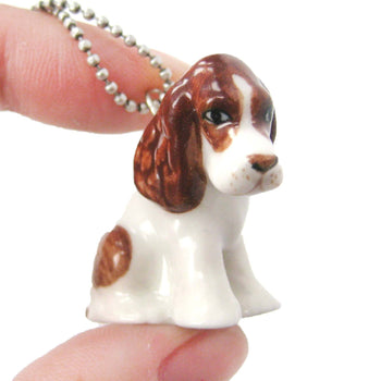 SALE : Basset Hound Puppy Dog Porcelain Ceramic Animal Pendant Necklace | Handmade | DOTOLY