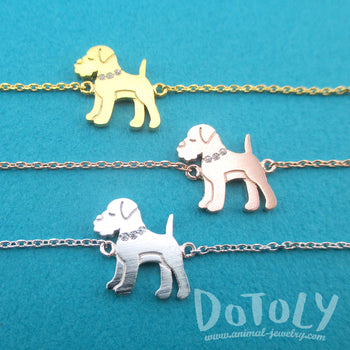 Schnauzer Puppy Shaped Charm Bracelet for Dog Lovers | Animal Jewelry