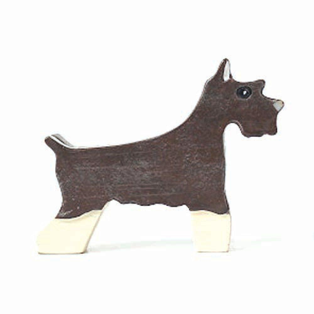 Schnauzer Shaped Animal Dog Lover Photo Stand Business Card Holder ...