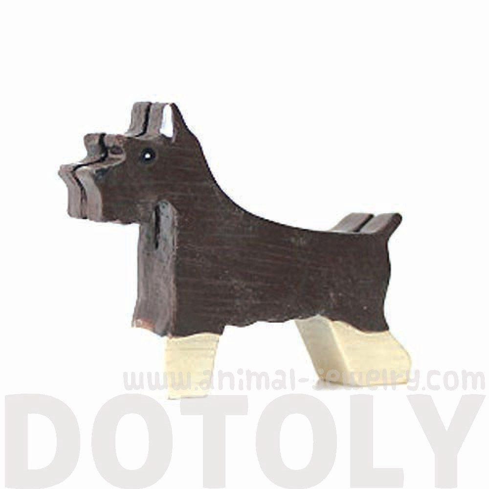 Schnauzer Shaped Animal Photo Business Card Stand Memo Holder | Gifts for Dog Lovers | DOTOLY