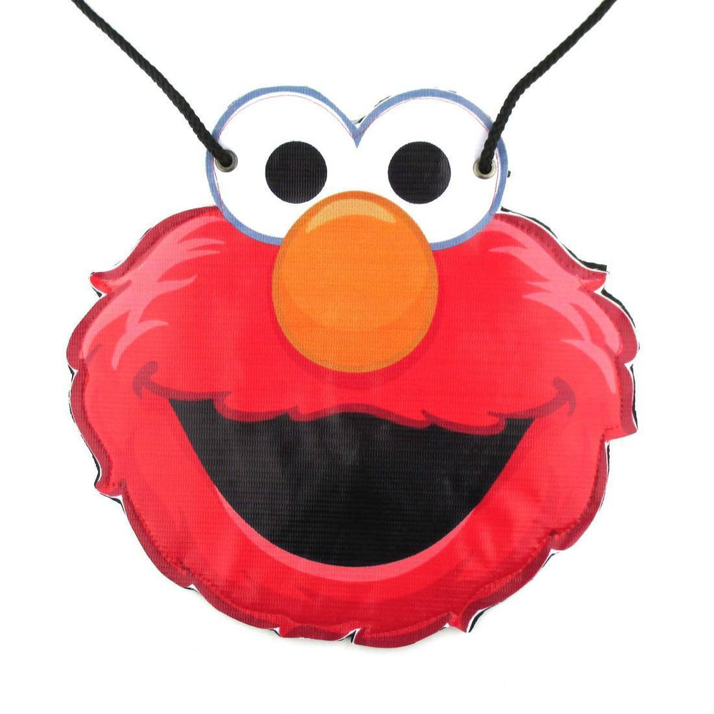 Sesame Street Elmo Muppet Shaped Vinyl Print Cross Body Bag | DOTOLY | DOTOLY