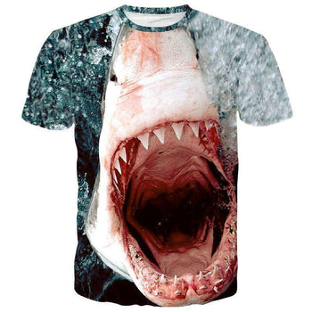 Shark Attack Great White Shark Jaws Unisex Graphic Tee | DOTOLY | DOTOLY