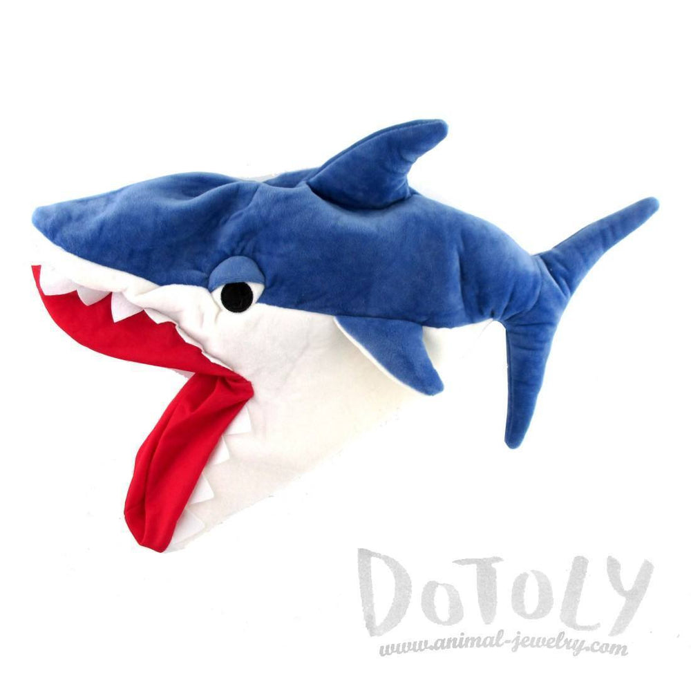 Shark Bite Plush Hat in Blue or Grey | DOTOLY | DOTOLY