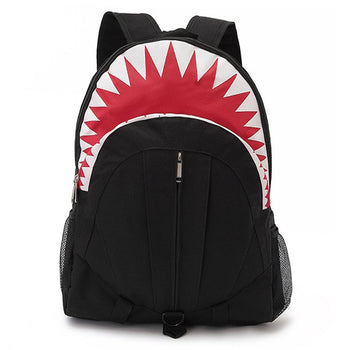 Shark Shaped Animal Inspired Gym Rucksack Backpack in Black | Shark Week | DOTOLY