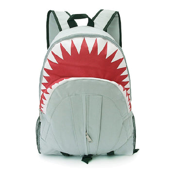 Shark Shaped Animal Inspired Gym Rucksack Backpack in Grey | Shark Week | DOTOLY