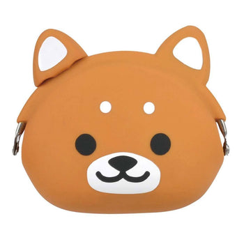 Shiba Puppy Dog Shaped Mimi Pochi Animal Friends Silicone Clasp Coin Purse Pouch | DOTOLY