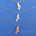 Mermaid Ariel Silhouette Shaped Pendant Necklace | DOTOLY