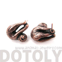 Sloth Clinging Onto Your Ears Shaped Animal Stud Earrings in Copper | DOTOLY | DOTOLY