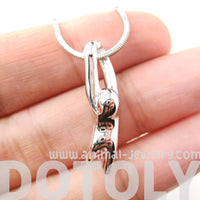 Sloth Dangling Sleek Abstract Animal Pendant Necklace in Silver | DOTOLY | DOTOLY