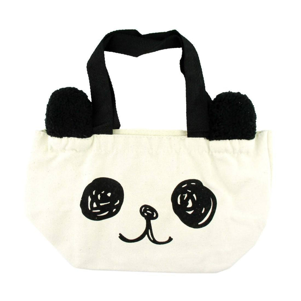 Small Panda Bear Face Shaped Fabric Lunch Tote Bag | DOTOLY | DOTOLY