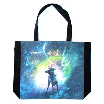 Stag Deer Patronus Universe Starry Night Print Rectangular Shopper Tote Shoulder Bag | DOTOLY | DOTOLY