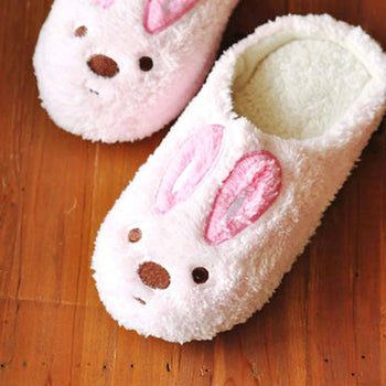 Super Comfy Bunny Rabbit Animal Shaped Slip-On At Home Slippers for Women | DOTOLY