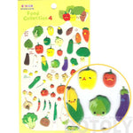 Super Cute Vegetable Broccoli Carrot Corn Shaped Puffy Stickers for Scrapbooking | DOTOLY