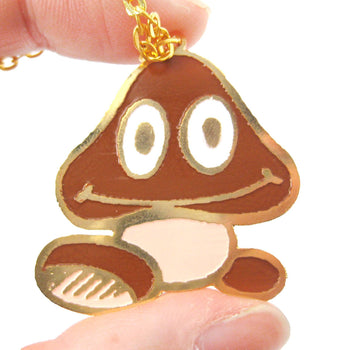 Super Mario Themed Goomba Mushroom World Pendant Necklace | Limited Edition | DOTOLY