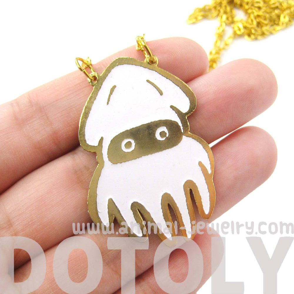 Super Mario Themed Squid Blooper Pendant Necklace | Limited Edition | DOTOLY