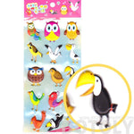 Super Puffy Owls Seagull Pelican Bird Themed Animal Shaped Stickers for Scrapbooking | DOTOLY